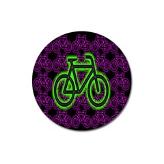 Bike Graphic Neon Colors Pink Purple Green Bicycle Light Magnet 3  (round) by Alisyart