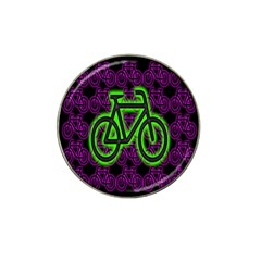 Bike Graphic Neon Colors Pink Purple Green Bicycle Light Hat Clip Ball Marker by Alisyart