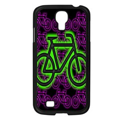 Bike Graphic Neon Colors Pink Purple Green Bicycle Light Samsung Galaxy S4 I9500/ I9505 Case (black) by Alisyart
