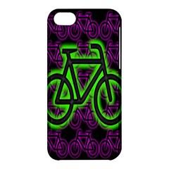 Bike Graphic Neon Colors Pink Purple Green Bicycle Light Apple Iphone 5c Hardshell Case by Alisyart
