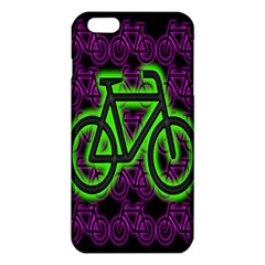 Bike Graphic Neon Colors Pink Purple Green Bicycle Light Iphone 6 Plus/6s Plus Tpu Case by Alisyart