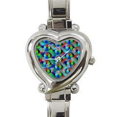 Bee Hive Color Disks Heart Italian Charm Watch by Amaryn4rt