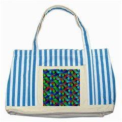 Bee Hive Color Disks Striped Blue Tote Bag by Amaryn4rt