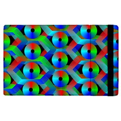 Bee Hive Color Disks Apple Ipad 3/4 Flip Case by Amaryn4rt