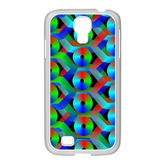 Bee Hive Color Disks Samsung Galaxy S4 I9500/ I9505 Case (white)