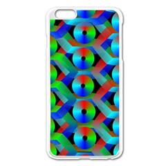 Bee Hive Color Disks Apple Iphone 6 Plus/6s Plus Enamel White Case by Amaryn4rt