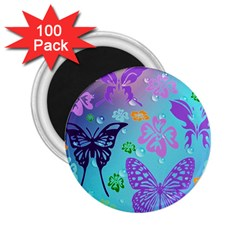 Butterfly Vector Background 2 25  Magnets (100 Pack)  by Amaryn4rt