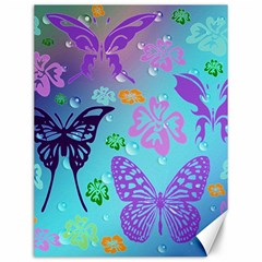 Butterfly Vector Background Canvas 12  X 16