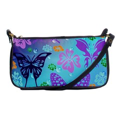 Butterfly Vector Background Shoulder Clutch Bags by Amaryn4rt