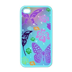 Butterfly Vector Background Apple Iphone 4 Case (color) by Amaryn4rt