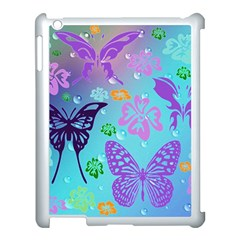 Butterfly Vector Background Apple Ipad 3/4 Case (white) by Amaryn4rt