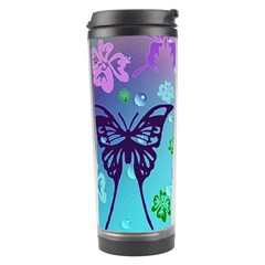 Butterfly Vector Background Travel Tumbler by Amaryn4rt