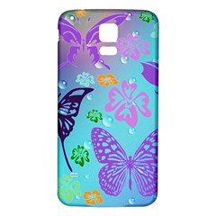 Butterfly Vector Background Samsung Galaxy S5 Back Case (white) by Amaryn4rt