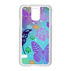 Butterfly Vector Background Samsung Galaxy S5 Case (white)