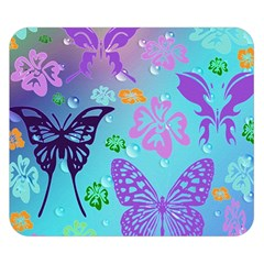 Butterfly Vector Background Double Sided Flano Blanket (small)  by Amaryn4rt