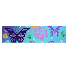 Butterfly Vector Background Satin Scarf (oblong) by Amaryn4rt