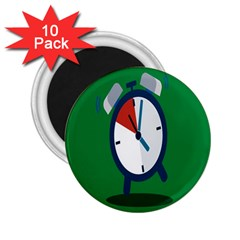 Alarm Clock Weker Time Red Blue Green 2 25  Magnets (10 Pack)  by Alisyart