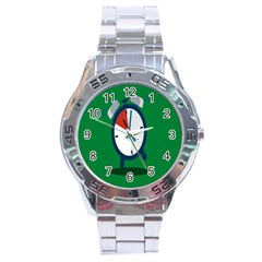 Alarm Clock Weker Time Red Blue Green Stainless Steel Analogue Watch by Alisyart