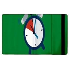 Alarm Clock Weker Time Red Blue Green Apple Ipad 3/4 Flip Case by Alisyart