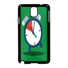 Alarm Clock Weker Time Red Blue Green Samsung Galaxy Note 3 Neo Hardshell Case (black) by Alisyart