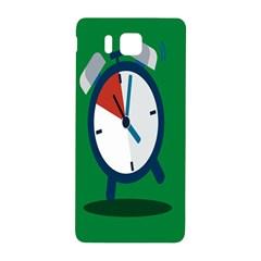 Alarm Clock Weker Time Red Blue Green Samsung Galaxy Alpha Hardshell Back Case by Alisyart