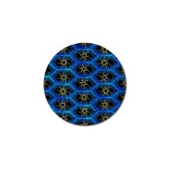 Blue Bee Hive Pattern Golf Ball Marker by Amaryn4rt