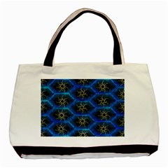 Blue Bee Hive Pattern Basic Tote Bag by Amaryn4rt