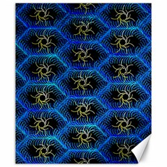 Blue Bee Hive Pattern Canvas 20  X 24   by Amaryn4rt