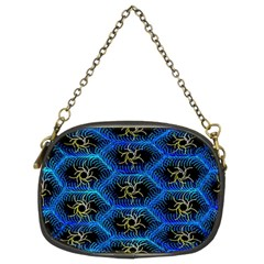 Blue Bee Hive Pattern Chain Purses (two Sides)  by Amaryn4rt