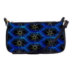 Blue Bee Hive Pattern Shoulder Clutch Bags by Amaryn4rt