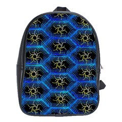 Blue Bee Hive Pattern School Bags (xl)  by Amaryn4rt