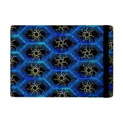 Blue Bee Hive Pattern Ipad Mini 2 Flip Cases by Amaryn4rt