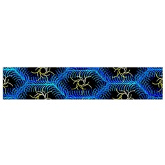 Blue Bee Hive Pattern Flano Scarf (small) by Amaryn4rt