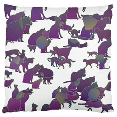 Many Cats Silhouettes Texture Standard Flano Cushion Case (two Sides) by Amaryn4rt