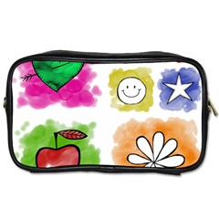 A Set Of Watercolour Icons Toiletries Bags by Amaryn4rt