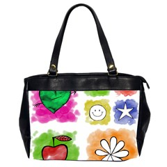 A Set Of Watercolour Icons Office Handbags (2 Sides)  by Amaryn4rt
