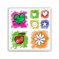 A Set Of Watercolour Icons Memory Card Reader (square)  by Amaryn4rt