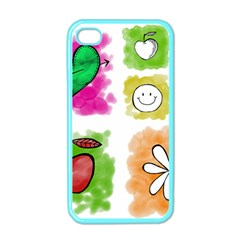 A Set Of Watercolour Icons Apple Iphone 4 Case (color) by Amaryn4rt