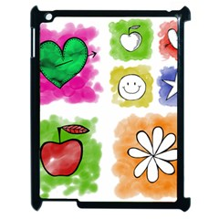 A Set Of Watercolour Icons Apple Ipad 2 Case (black) by Amaryn4rt