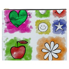 A Set Of Watercolour Icons Cosmetic Bag (xxxl)  by Amaryn4rt