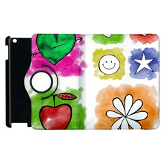 A Set Of Watercolour Icons Apple Ipad 2 Flip 360 Case by Amaryn4rt