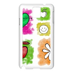A Set Of Watercolour Icons Samsung Galaxy Note 3 N9005 Case (white) by Amaryn4rt