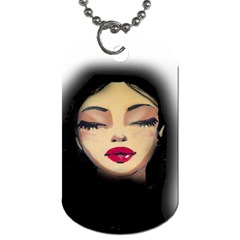 Girl Dog Tag (one Side) by Valentinaart