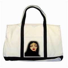 Girl Two Tone Tote Bag by Valentinaart