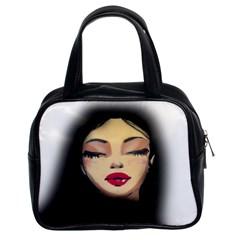 Girl Classic Handbags (2 Sides) by Valentinaart