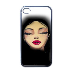 Girl Apple Iphone 4 Case (black) by Valentinaart