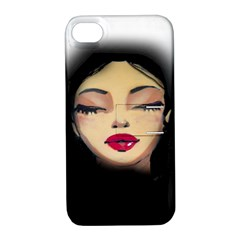 Girl Apple Iphone 4/4s Hardshell Case With Stand by Valentinaart