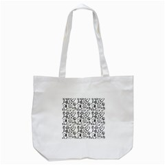Body Parts Tote Bag (white) by Valentinaart