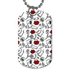 Body Parts Dog Tag (two Sides) by Valentinaart