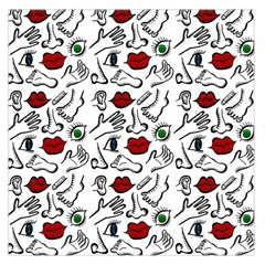 Body Parts Large Satin Scarf (square) by Valentinaart